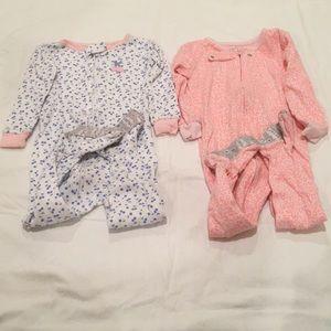 ⭐️ carters girls cotton pajamas